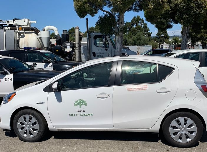 Oakland added SmartPedal to its parking enforcement fleet of Pricus Cs. - Photo courtesy of SmartPedal