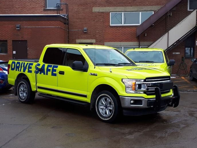 The new speed enforcement vehicles are part of the city's efforts to be more transparent and increase safety on the road. - Photo courtesy of City of Edmonton