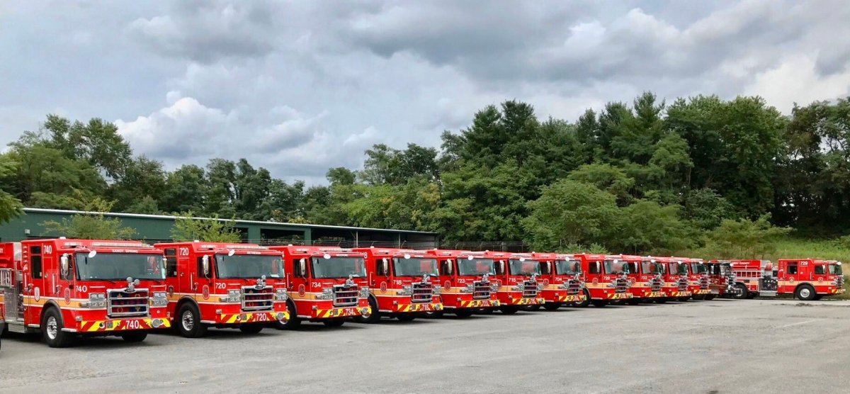 Md. County Gets 25 New Fire Engines