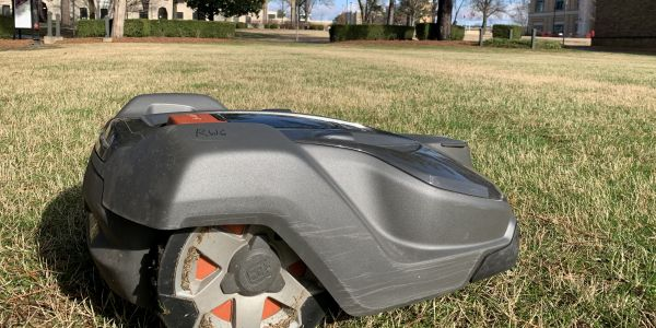 Each Husqvarna automower can mow for about four and a half hours before it needs to be charged.