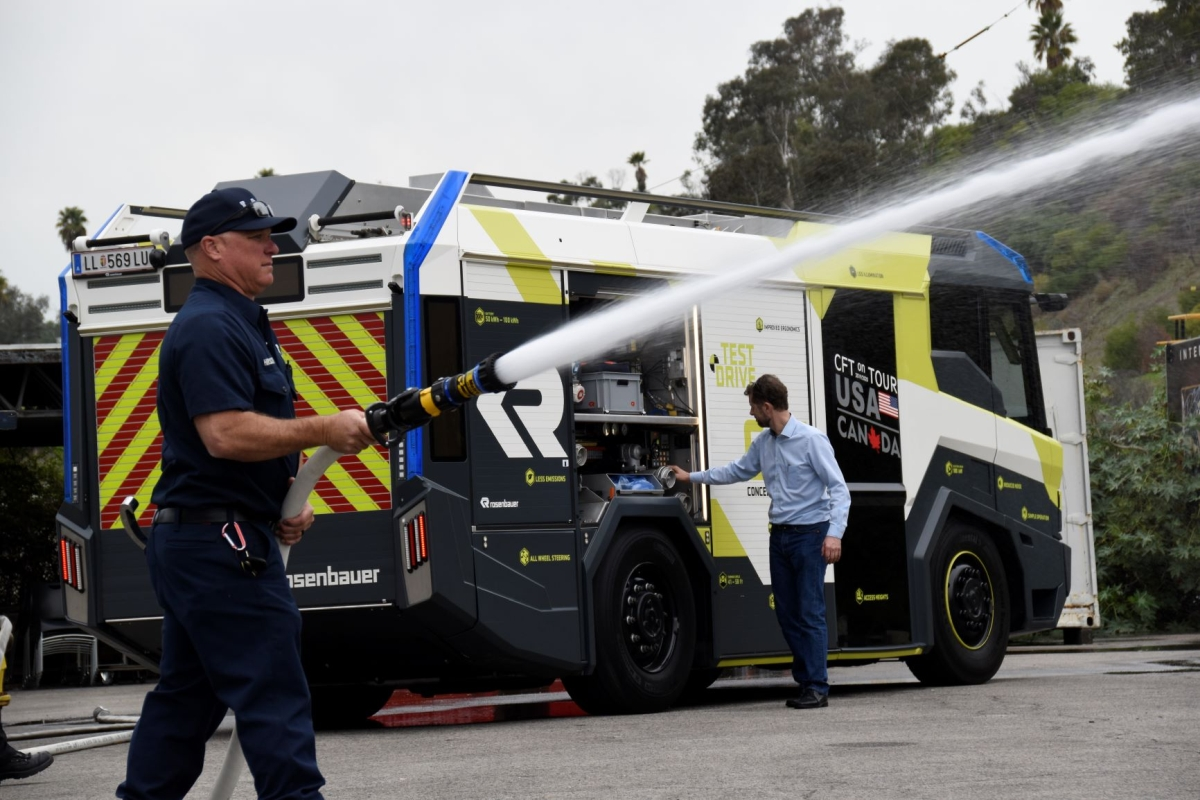 Los Angeles Purchases First Electric Fire Engine