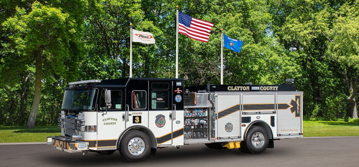 Clayton County Fire and Emergency Services is adding eight custom pumpers to its fleet. - Photo courtesy of Pierce Mfg