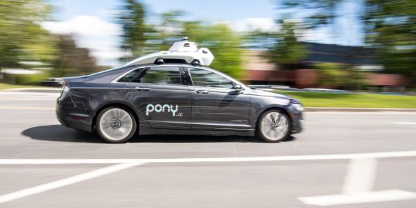 Each vehicle is equipped with Pony.ai's autonomous driving technology along with a safety operator.