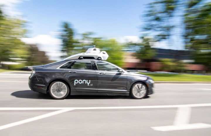 Each vehicle is equipped with Pony.ai's autonomous driving technology along with a safety operator. - Photo courtesy of Pony.ai
