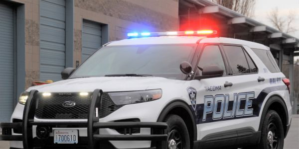 The Ford Police Interceptor Utility hybrid is estimated to get 24 mpg, offering fuel savings for...