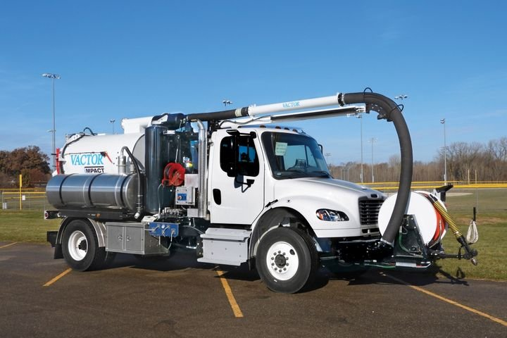 Vactor Impact has a compact design that allows it to easily maneuver through tight spaces. - Photo courtesy of Vactor Manufacturing
