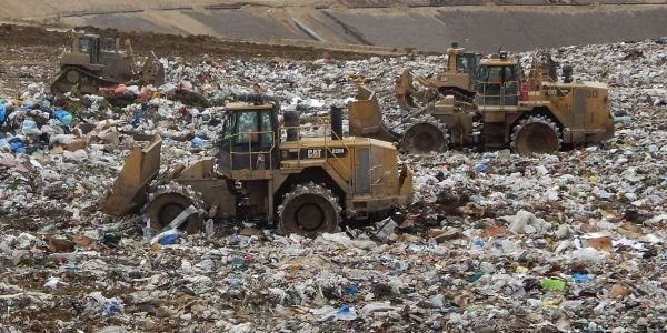 The off-road landfill fleet 29 off-road equipment — loaders, dozers, a stacker belt and...