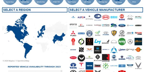 Calstart Launches Tool Highlighting Zero-Emission Vehicle Offerings