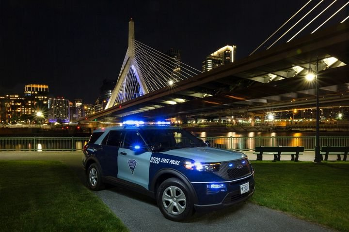 Massaschusetts State Police has purchased 161 Ford Police Interceptor Utility hybrid vehicles for 2020. - Photo: Massaschusetts State Police