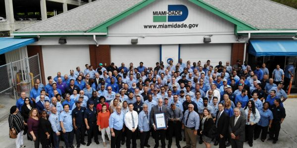 Of the Miami-Dade fleet team, many technicians are still working to service vehicles.