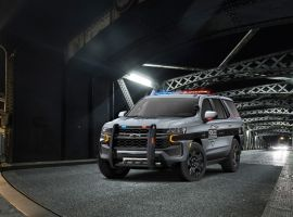 The exterior design of the Tahoe PPV is based on the new Tahoe Z71 trim, which features a rugged front grille, higher approach angle, and front skidplate.