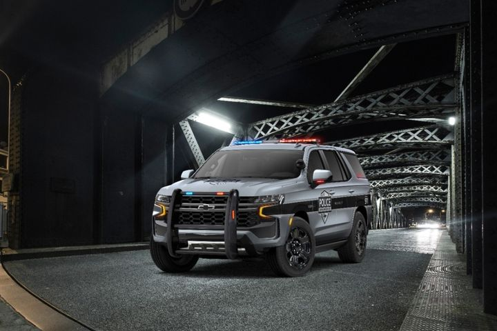 The exterior design of the Tahoe PPV is based on the new Tahoe Z71 trim, which features a rugged front grille, higher approach angle, and front skidplate. - Photo: Chevrolet