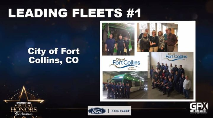 The City of Fort Collins, Colo., was named the No. 1 fleet among the Leading Fleets at the Government Fleet Virtual Honors Celebration on June 16. -