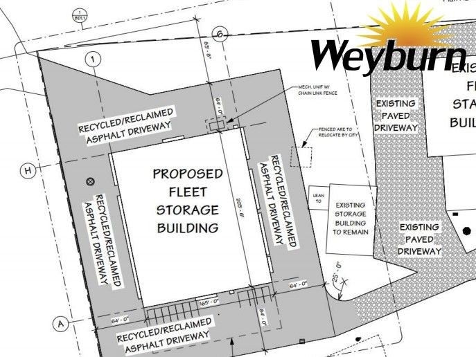 Plans for the proposed fleet storage building found in the June 22 council agenda.  - Photo: City of Weyburn