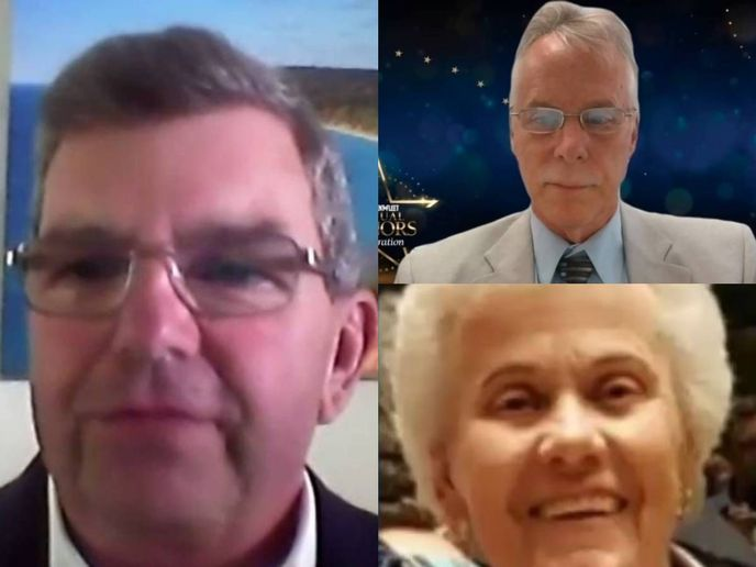 (Clockwise from left) Bruce Halliday, Jeffery Tews, and Liz Gray were inducted into the Public Fleet Hall of Fame June 16.