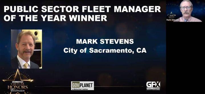 Mark Stevens, fleet manager for the City of Sacramento, Calif. -