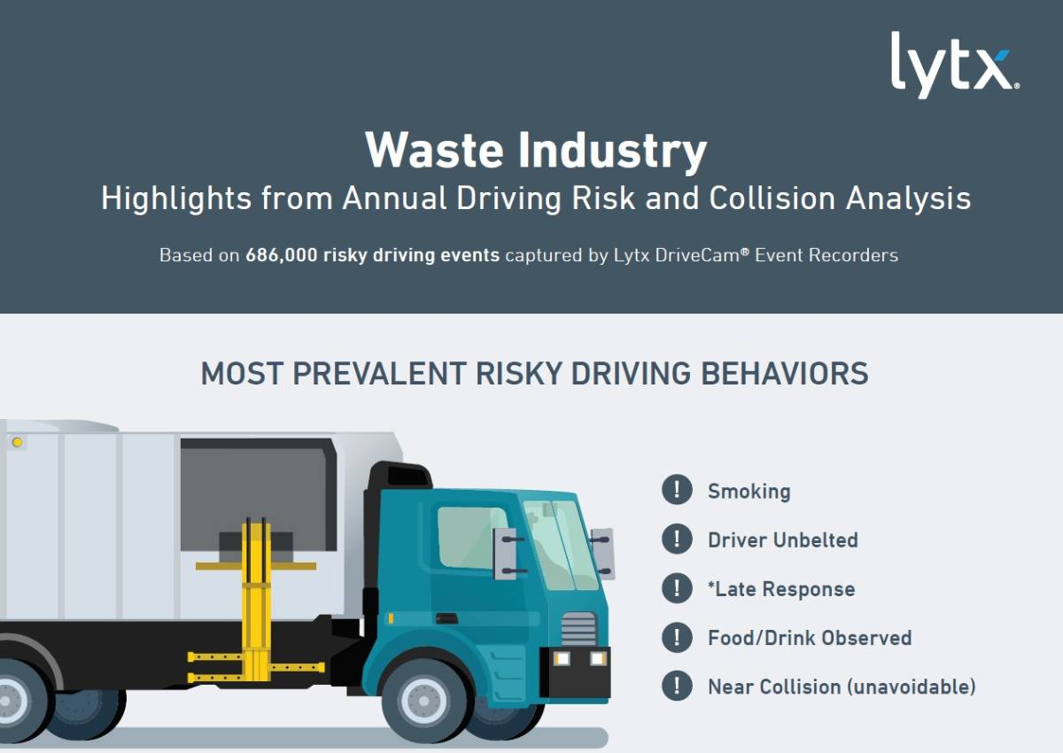 Waste Industry Risky Driving Behaviors Involve Smoking, Unbelted Drivers