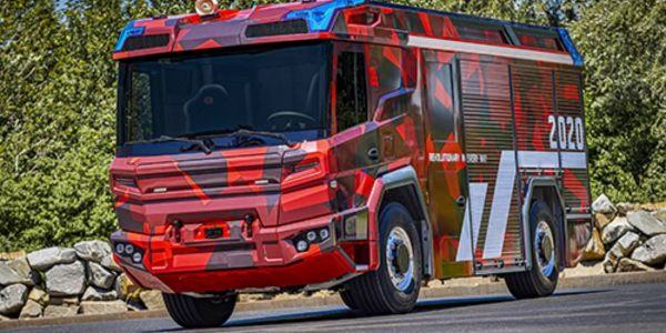 Volvo Penta has developed the electric driveline for Rosenbauer's new fire truck.