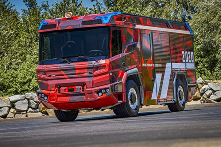 Volvo Penta has developed the electric driveline for Rosenbauer's new fire truck. - Photo: Volvo Penta