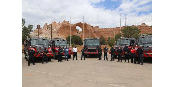 Navajo Nation Receives New Fire Truck Fleet