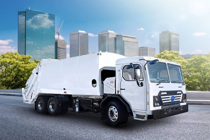 Five all-electric rear loader collection trucks will go to work on normal daily collection routes, providing regular zero-emission collection services for the N.J city. - Photo: BYD