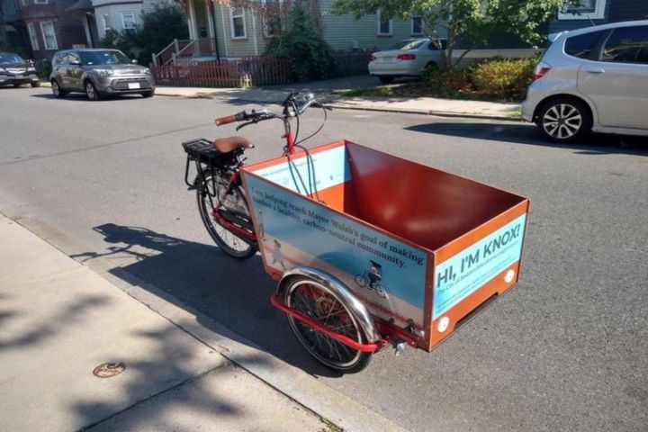 "The tricycle is named after Katherine ""Kittie"" Knox, a Black West End resident in the 1880s who confronted racial and gender stereotypes in Boston's bicycling community. - Photo: City of Boston press release"