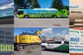 Biodiesel-Powered Vehicles Wrap and Roll