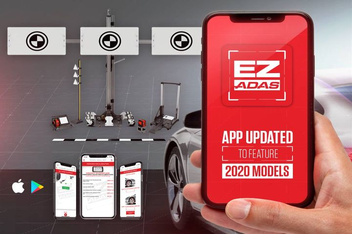 More than 1,000 target placement updates related to the camera system are now available for the John Bean EZ-ADAS recalibration system. - Photo: John Bean
