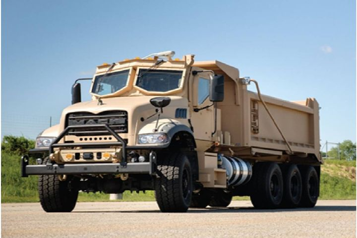 Mack Defense is partnering with Jankel, a world-leader in the design and manufacture of high-specification defense protection systems, to provide the seating solution for the M917A3 Heavy Dump Truck. - Photo: Mack Trucks