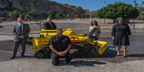 Los Angeles Fire Department Debuts Robotic Firefighting Vehicle
