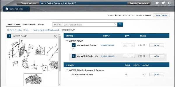 Mitchell 1 Introduces ProDemand  Estimate Guide Enhancements