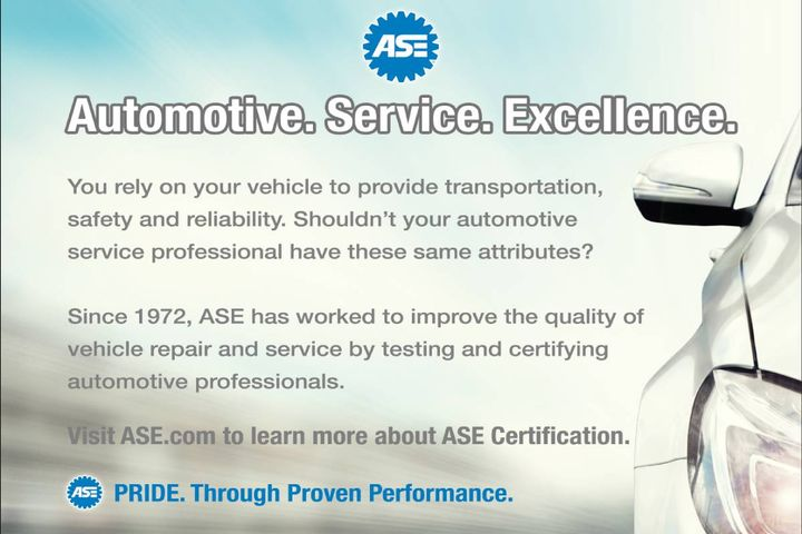 The National Institute for Automotive Service Excellence (ASE) announced Nov. 23 the Ford Customer Service Division (FCSD) offers the Ford Accepted Service Training (FAST) Program. - Photo: ASE