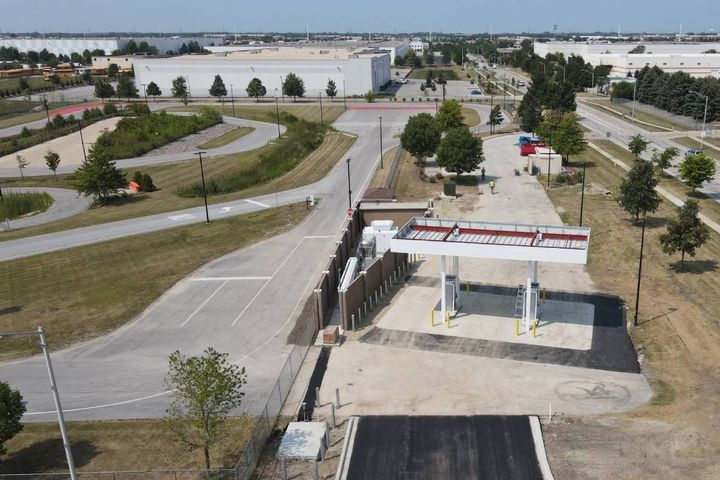 The new environmentally-friendly station will benefit the city's fleet and the community. - Photo:City of Naperville