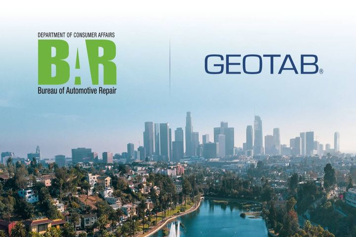 Geotab announced Nov. 17 it has joined the California Bureau of Automotive Repair's (BAR) Continuous Testing Program (CTP) pilot, a program designed to help alleviate the effort of in-person Smog Checks for government fleet vehicles in California. - Photo: Geotab