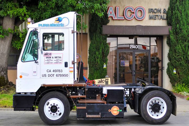 Alco utilized funding from California's Clean Off-Road Equipment Voucher Incentive Project (CORE) to purchase the Orange EV truck. - Photo: Orange EV