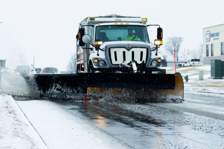 City drivers tested the Vector System in five city snowplows in below-zero temperatures during a big snowstorm. - Photo: City of Ames