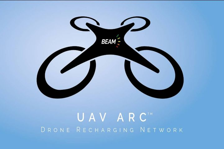 The rapidly deployed drone recharging network requires no construction or grid connection. - Photo: Beam