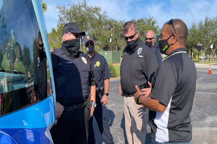 Port St. Lucie-area first responders, fire fighters, and law enforcement officials are better prepared for self-driving shuttles after completing hands-on first responder training hosted by Mattamy Homes and Beep. - Photo: Beep