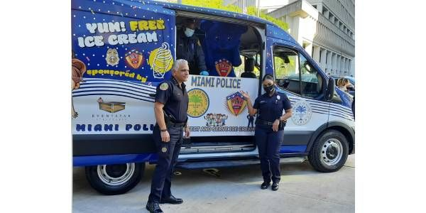 Miami Police Department Debuts Community Ice Cream Truck