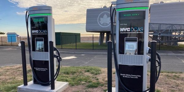 Faster chargers will be used for New York City's growing electric vehicle fleet.