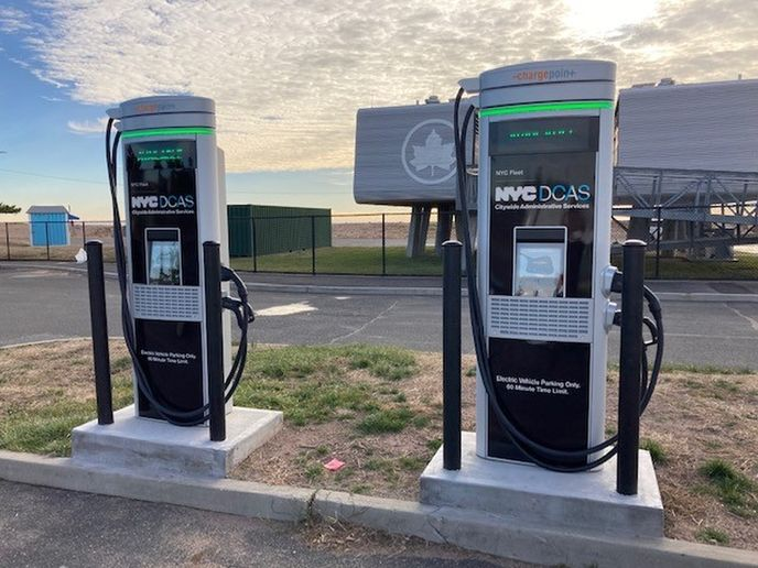 Faster chargers will be used for New York City's growing electric vehicle fleet. - Photo: NYC