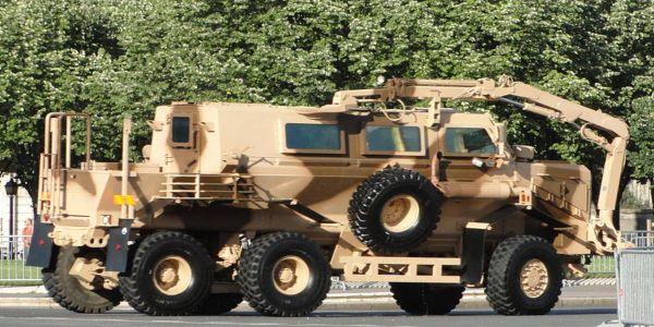 Mine Resistant Ambush Protected Vehicle (Stock photo)