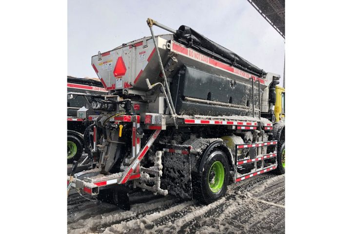 The NYC DOT tested out its new plowing and anti-icing fleet. - Photo: NYC DCAS