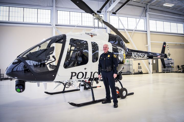 The aircraft costs nearly $4.5 million, can carry up to five people, has a flight time of three to four hours, and makes use of improved video technology. - Photo:Fort Worth Police Department