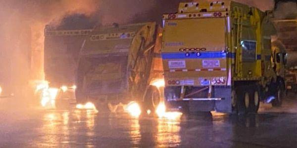 Fire Causes $3M Damage to Garbage Trucks
