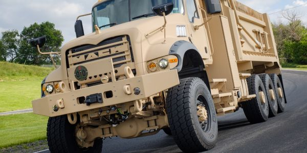 U.S. Army M917A3 Heavy Dump Trucks feature significantly improved extreme cold weather...