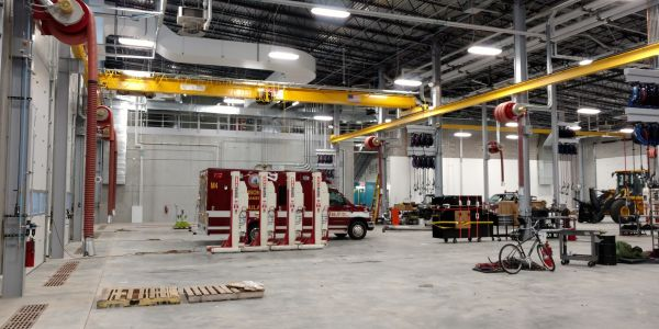 The City of Madison's new fleet facility can be used to repair vehicles ranging from ladder...