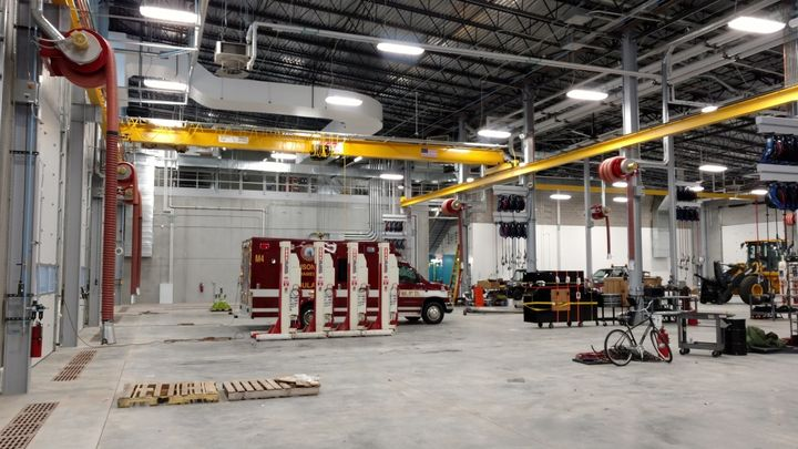 The City of Madison's new fleet facility can be used to repair vehicles ranging from ladder trucks to trucks that run on compressed natural gas (CNG). - Photo: City of Madison