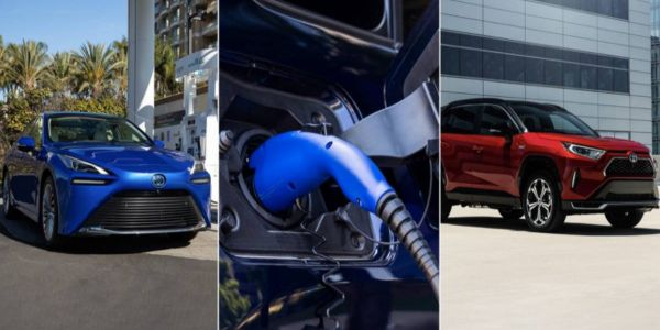 The three cars include two battery electric vehicles (BEVs) and a plug-in hybrid electric...