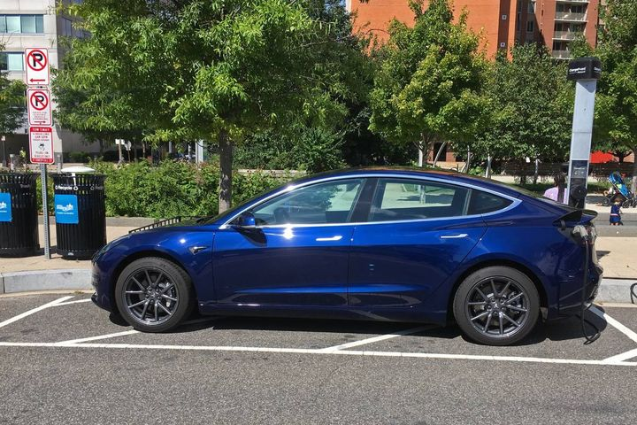 The Tesla Model 3 police car has been in service for about two months, and is being used by the detective unit and not as a patrol car (stock photo). - Photo: Mario Duran-Ortiz (CC BY-SA 2.0)